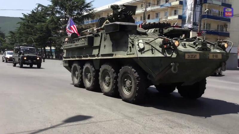 Колонна войск США в Грузии Convoy of US troops in Georgia