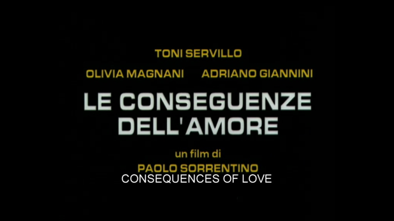 Трейлер Последствия любви Le conseguenze dell'amore 2004