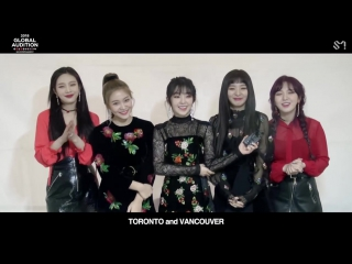 180115 Red Velvet @ S.M. Global Audition Message