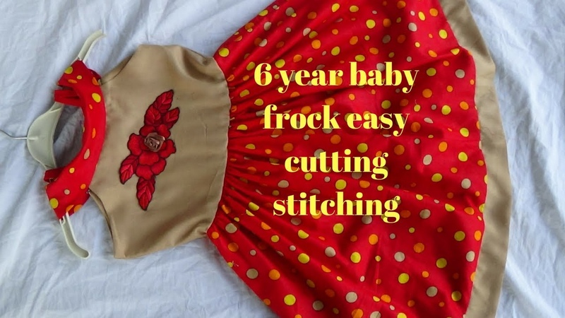 Top stylish beautiful designer frock for 6 year baby ,cutting stitching step by step easy to make