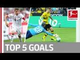 Чемпионат Германии 2017-18 / Лучшие голы 31-го тура / Топ-5 [HD 720p]
