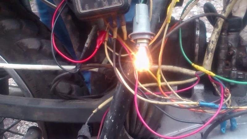 Как подключить лампу контроля заряда ИЖ 6 вольт.