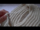 Вязание снуда патентной резинкой на спицах