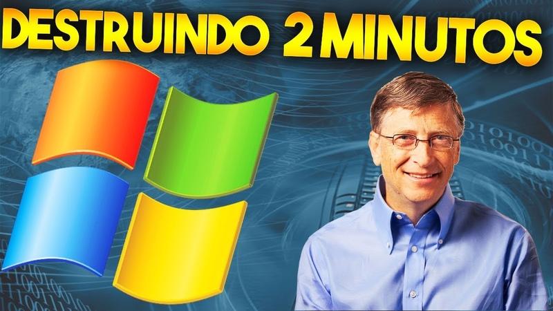 DESTRUINDO O WINDOWS XP EM 2 MINUTOS (TESTE DE VÍRUS)