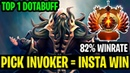 Pick Invoker - Insta Win - 82Winrate Top 1 Invoker Dotabuff - Dota 2