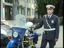 Мотоцикл Урал милицейский жёлто-синий (ретро)