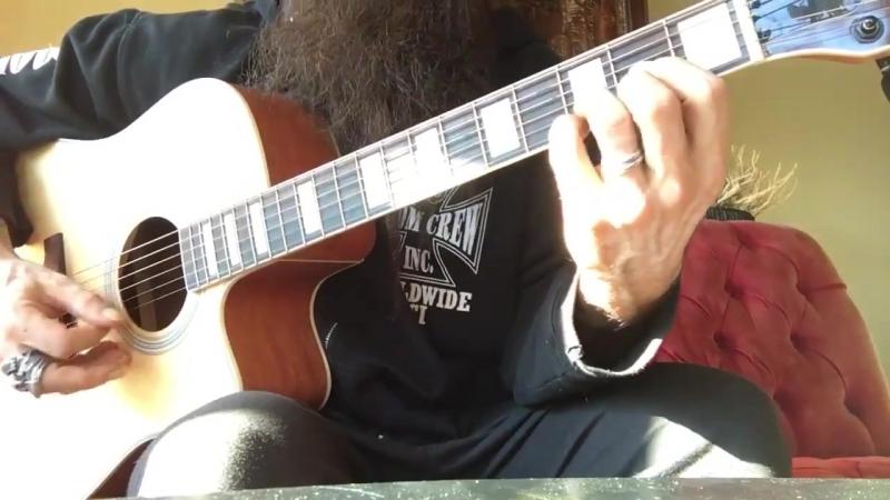 Zakk Wylde on ACOUSTIC PROTO Guitar - The Blessed Hellride