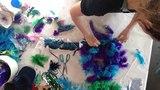 Feather headdress under $10 DIY - Purple