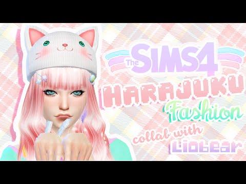 The Sims 4: Create a Sim - Harajuku collab w/ Liobear