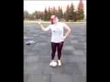 Екатерина Лисицына жонглирование с завязанными глазами