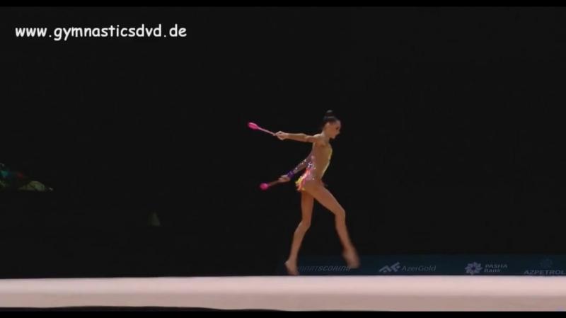 Дарья Трубникова булавы (многоборье) «AGF Junior Trophy 2018»