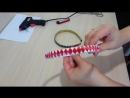 Оплетение ободка в четыре ленты узором Ромбик