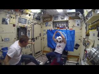 Футбол в космосе в преддверии финала #ЧМ2018