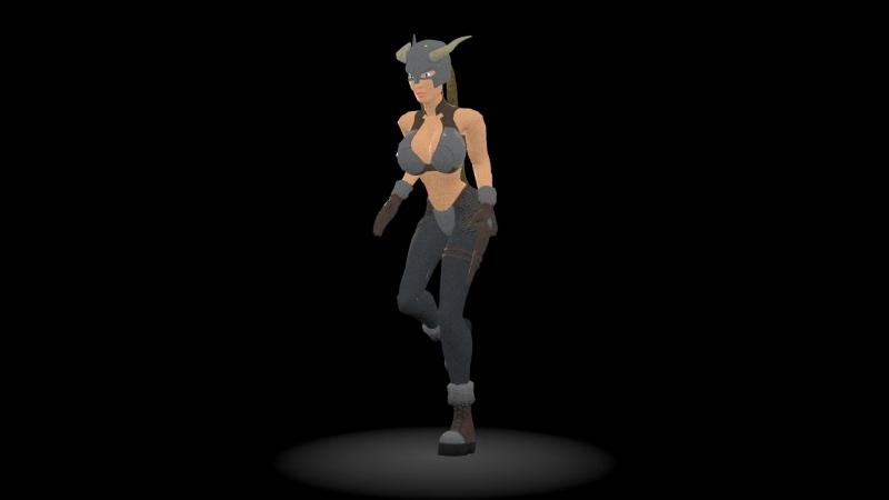 Анимация персонажа ходьба, бег