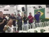 grande festa na torcida do Santos, de arrepiar