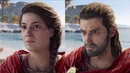 Assassin's Creed Odyssey Male Female Character Comparison