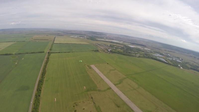 Вид с парашюта ОГОНЬ