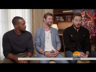 Chris Pratt, Chris Hemsworth And Anthony Mackie Talk 'Avengers- Infinity War' - TODAY