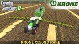Farming Simulator 17 KRONE X550GD RAKE TRAILER