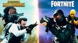 Еще один забавный видео ролик: PUBG vs Fortnite
