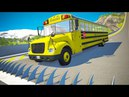 Spikes Embedded in Ramp against Cars Jumping Crashes 2 - BeamNG.drive