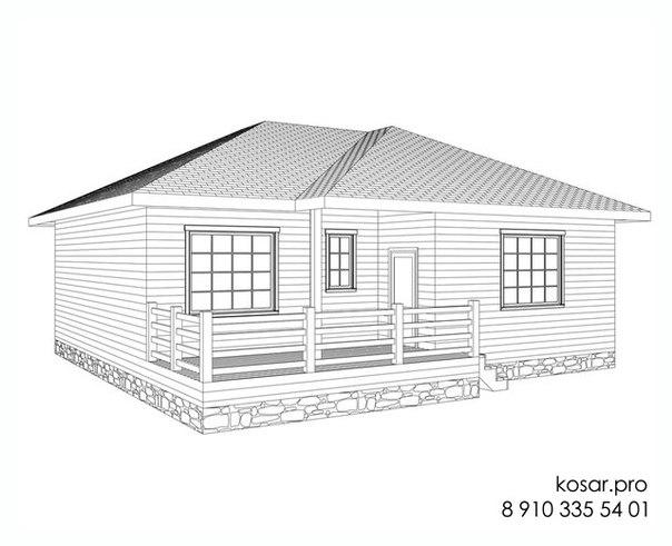 Одноэтажный дом 5010