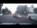 Воронеж. Странный маневр водителя матиза