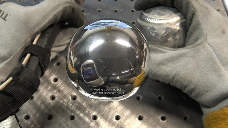 The American Fabricator Polished Aluminum Ball Challenge - 1/8 Thick Flat Aluminum Sheet, Not Foil