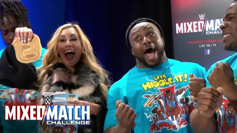 [WWE QTV]☆[Carmella finds her WWE Mixed Match Challenge New Day partner in a box of Booty-Os