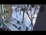 В Филевском парке сосульки сбивают утюгом
