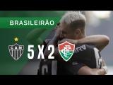 Atlético MG 5 x 2 Fluminense - Melhores Momentos e Gols - Brasileirão 10_06_18