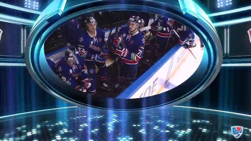 Моменты из матчей КХЛ сезона 14/15 • Гол. 1:1. Эрикссон Джимми (СКА) подставил клюшкуя и сравнял счет. 28.01