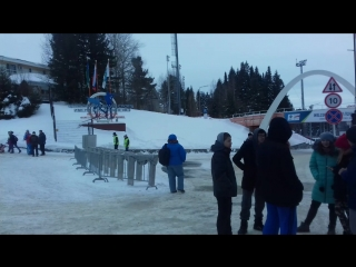 Аллея звезд в биатлонном центре г. Ханты-Мансийска
