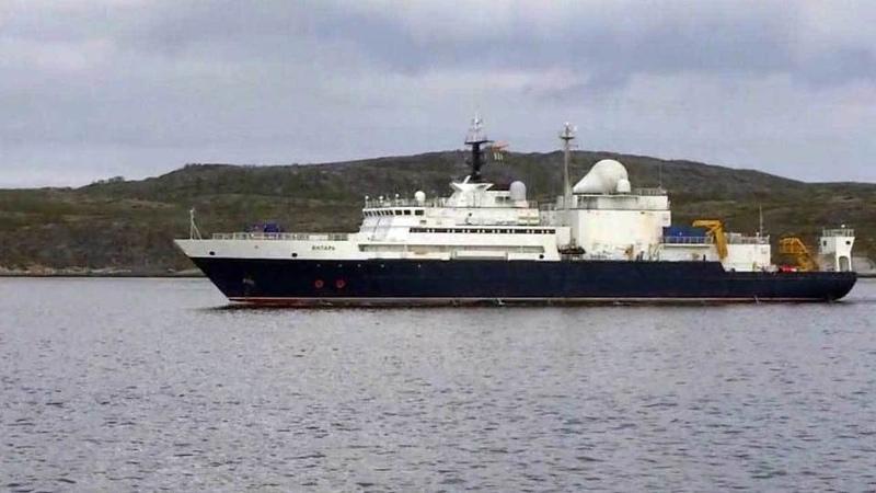 ВСевероморске встретили океанографическое судно «Янтарь». Новости. Первый канал