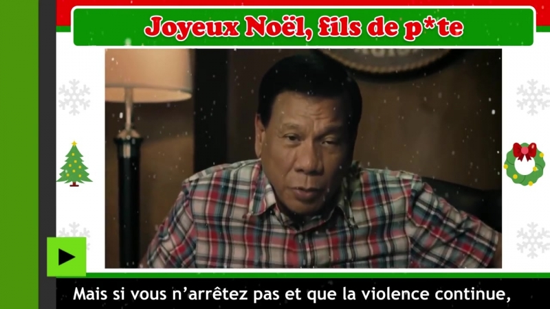 Rodrigo Duterte Joyeux Noël chers criminels[HD,1280x720]