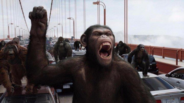 Восстание планеты обезьян HD фантастика боевик триллер драма 2011