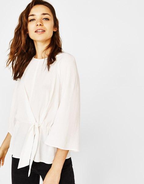 Блуза с узлом