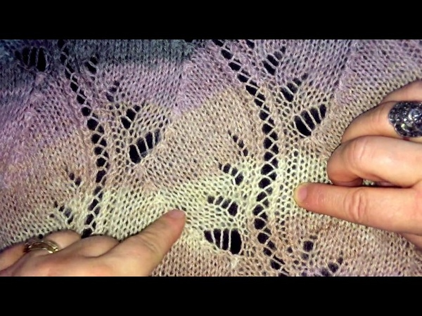 Şal Modeli - Sarmaşık Örneği ile Örülmüş - Shawl Pattern - Knitted with Ivy Sample.