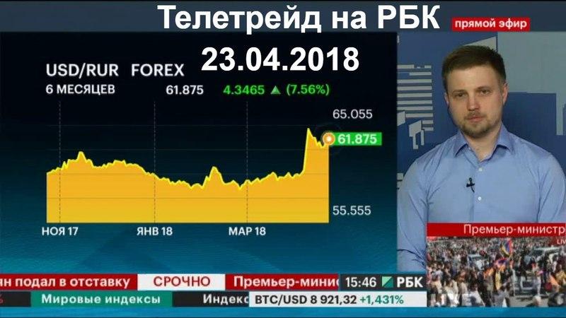 Телетрейд на РБК 23.04.2018 в эфире Артем Авинов TeleTrade