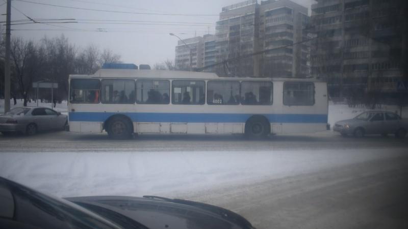 Троллейбус ЗиУ-682 КВР БТРМ-4003. Покатушки по Барнаулу-2.