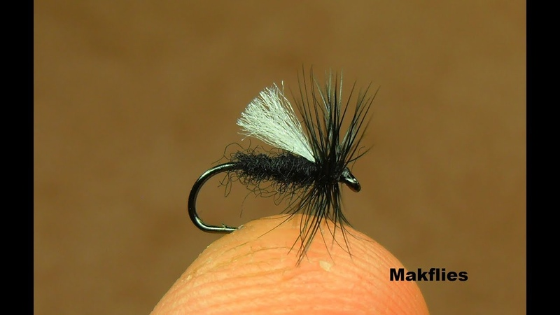 Tying a Simple Effective Poly winged Midge Dry Fly by Mak