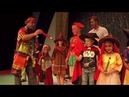 Kids and daddy with funny clown