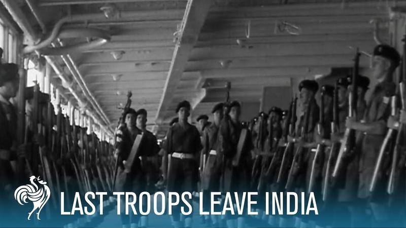 Last Batch Of British Troops Leave India (1948) | British Pathé