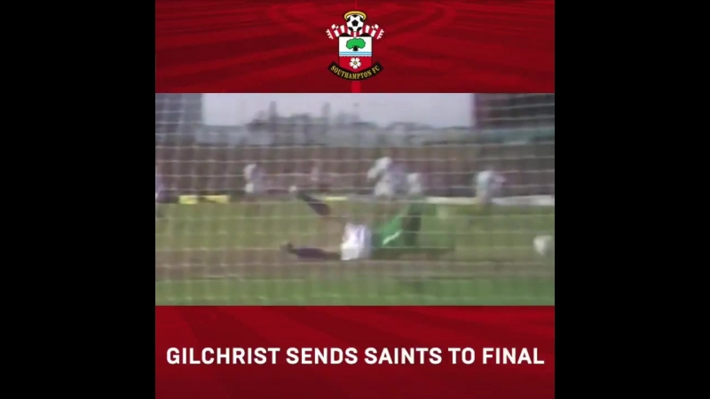 A special FA Cup semi-final memory! - - Paul Gilchrist was the hero with this stunner to kick-start SaintsFCs win over CPFC in 1