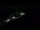 Темная сторона Земли с борта МКС