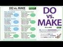 DO vs. MAKE in English