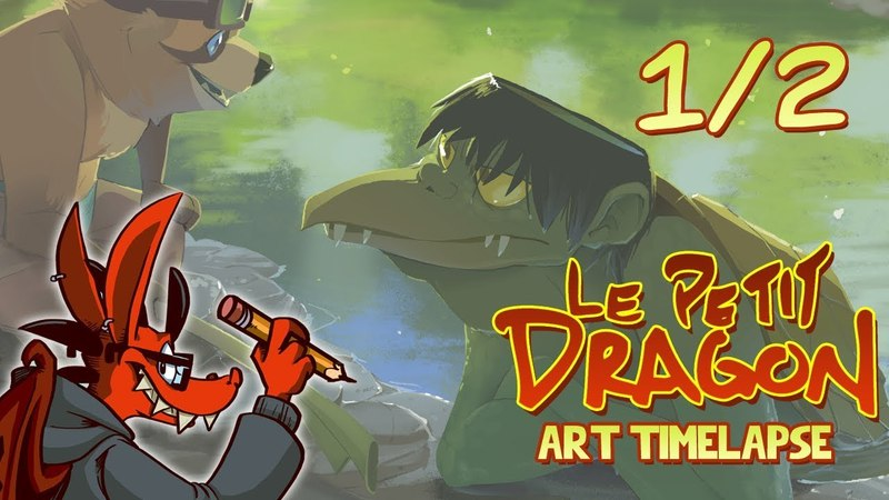 Art Timelapse: River Yokai Part 1