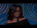 Oprah Winfrey accepts the 2018 Cecil B. de Mille award