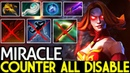 Miracle- [Lina] Counter All Disable Build 7.19 Dota 2