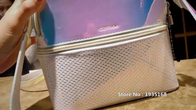 Luxy Луна мода Лазерная рюкзак Для женщин Многофункциональный рюкзаки для девочек-подростков молния рюкзак блеск школьная сумка